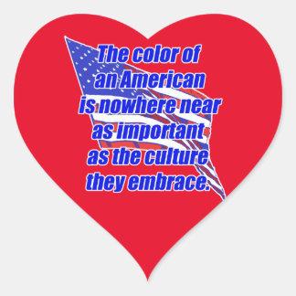 American color or culture heart sticker