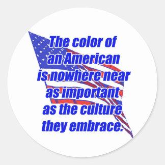 American color or culture classic round sticker
