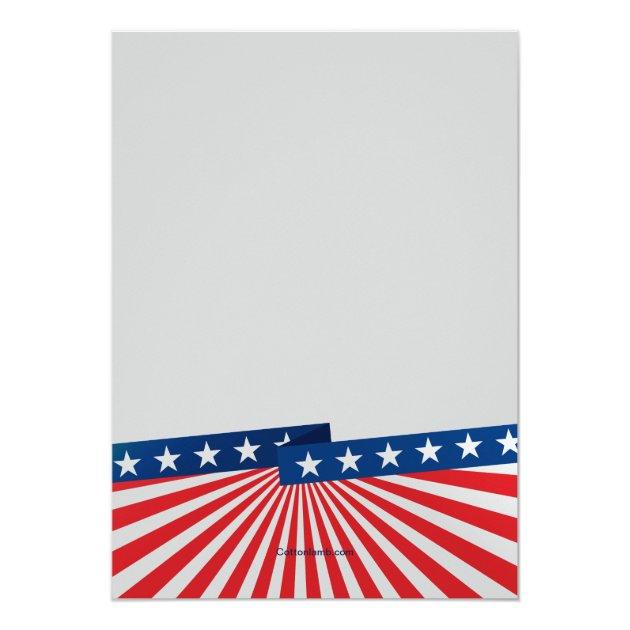 American Colors Photo Patriotic Invitation (back side)