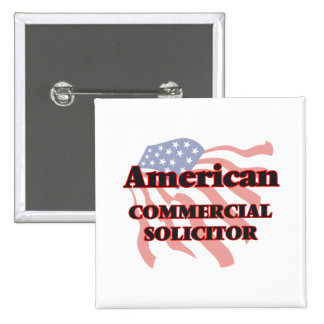American Commercial Solicitor 2 Inch Square Button