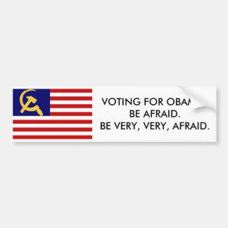 American Communist Flag, Obama Bumper Stickers