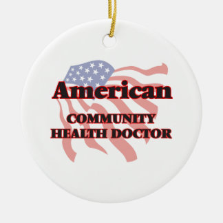American Community Health Doctor Double-Sided Ceramic Round Christmas Ornament