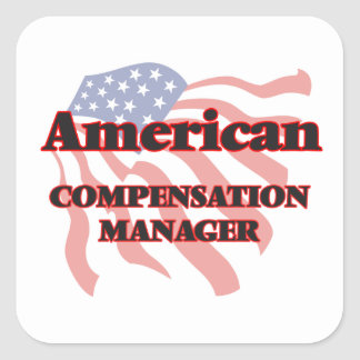 American Compensation Manager Square Sticker