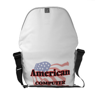 American Computer Programmer Courier Bag