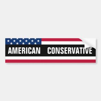 American Conservative Car Bumper Sticker