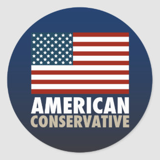 American Conservative Classic Round Sticker