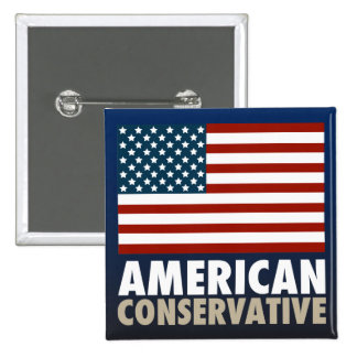 American Conservative Pinback Button