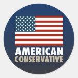 American Conservative Round Sticker