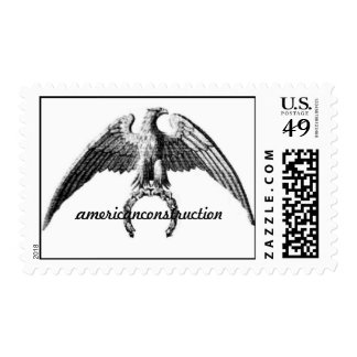 american construction Eagle Postage Stamp