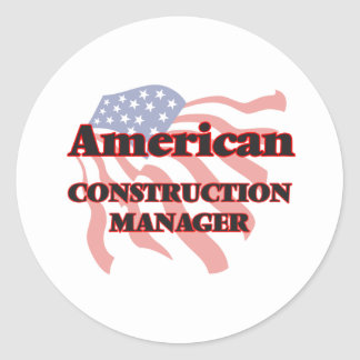 American Construction Manager Classic Round Sticker