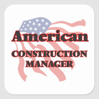American Construction Manager Square Sticker