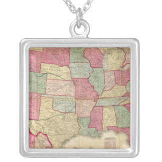 American Continent United States Silver Plated Necklace