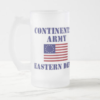 American Continental Army Frosted Drinking Glass 16 Oz Frosted Glass Beer Mug