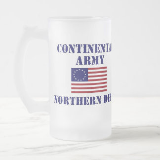 American Continental Army Frosted Drinking Glass Frosted Glass Beer Mug