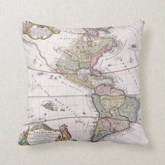 American Continents - Throw Pillow