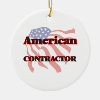 American Contractor Ceramic Ornament