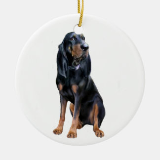 American Coon Hound - Black and Tan Ceramic Ornament