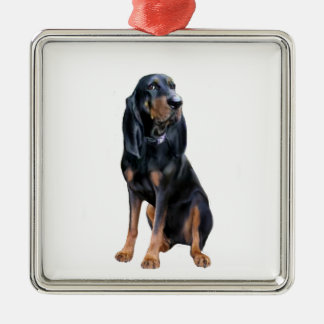 American Coon Hound - Black and Tan Christmas Tree Ornaments