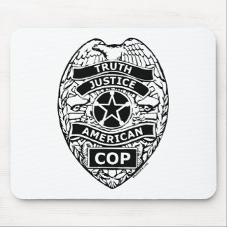 American Cop Badge Mouse Pad