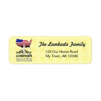 American Cornish Roots Address Labels