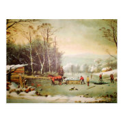 American Country Scene | Getting Ice Postcard