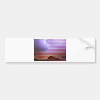 American Country Storm.jpg Bumper Sticker