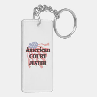 American Court Jester Double-Sided Rectangular Acrylic Keychain