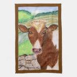 American Cow Art on an American Mojo Kitchen Towel