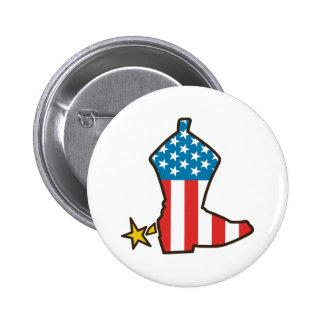 American Cowboy Pinback Button