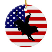 American Cowboy Ceramic Ornament