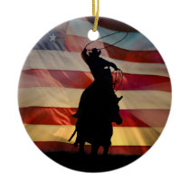 American Cowboy Christmas Ornament