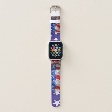 American Cowboy Hat on The USA Flag Apple Watch Band