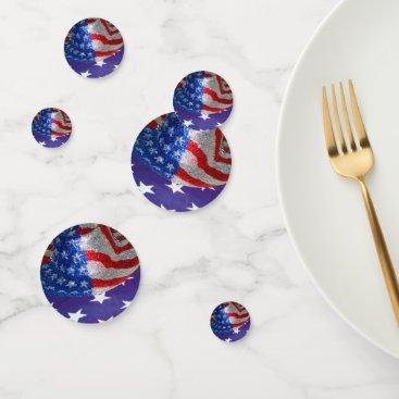 American Cowboy Hat on The USA Flag Confetti