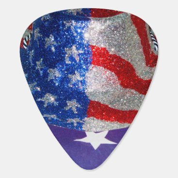 American Cowboy Hat on The USA Flag Guitar Pick