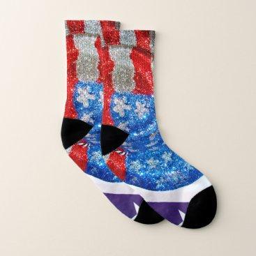 American Cowboy Hat on The USA Flag Socks