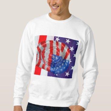 American Cowboy Hat on The USA Flag Sweatshirt