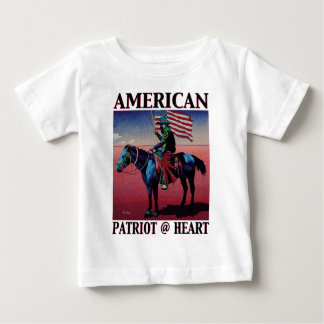 American Cowboy @ Heart by David Parker Fine Art Baby T-Shirt