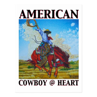 American Cowboy @ Heart by David Parker Fine Art Postcard