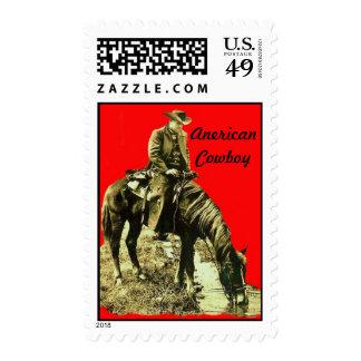AMERICAN COWBOY POSTAGE STAMP