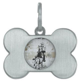American Cowboy Rodeo Western Horse Pet ID Tag