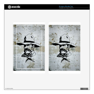American Cowboy Western Southwest Hat Horse Decals For Kindle Fire