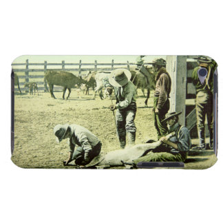 American cowboys branding a calf, c.1900 (photo) iPod touch cover