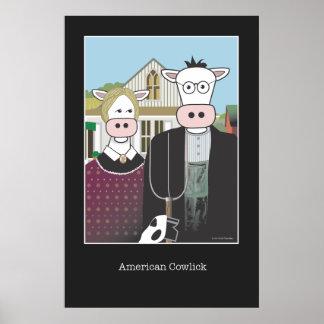 """American Cowlick"" 24""x36"" Poster"