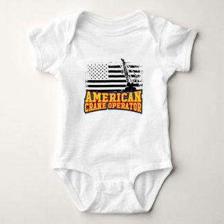 American Crane Operator Baby Bodysuit