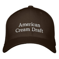 American Cream Draft Horse Embroidered Baseball Hat