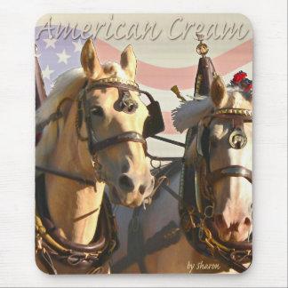 American Cream Draft Horse Mouse Pad