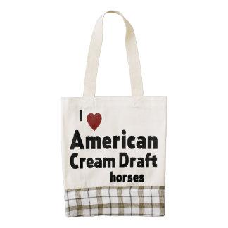 American Cream Draft horse Zazzle HEART Tote Bag