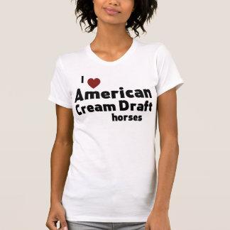 American Cream Draft horses T Shirt