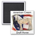 American Cream Horse Magnet