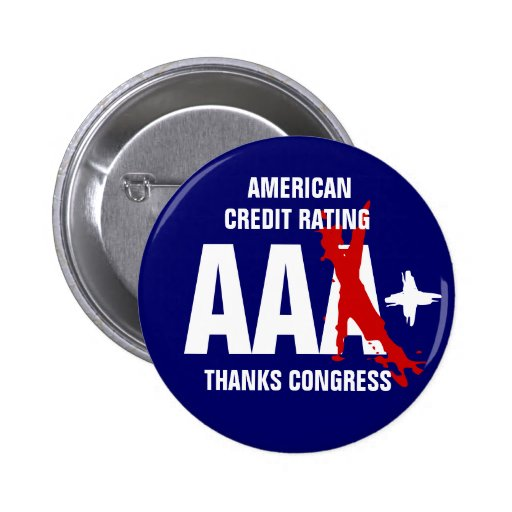 American Credit Rating AA+ 2 Inch Round Button